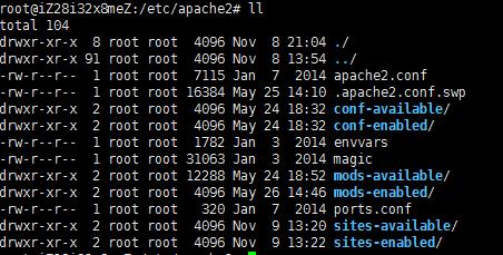 apache2目录结构